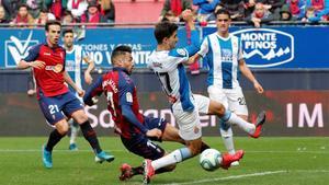 El Osasuna-Espanyol es el último partido disputado en El Sadar antes del parón por la pnademia.