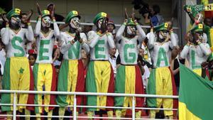Aficionados senegaleses durante el partido de su selección ante Polonia