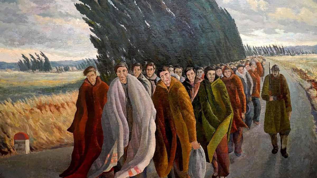 Exposición sobre el exilio español.