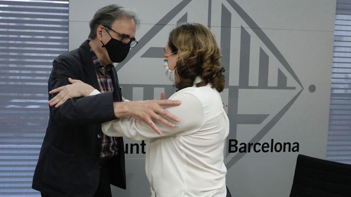 Joan Subirats y Ada Colau.