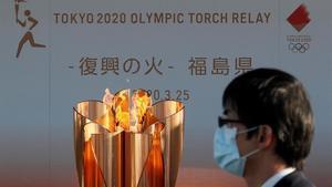 La antorcha olímpica en Japón.