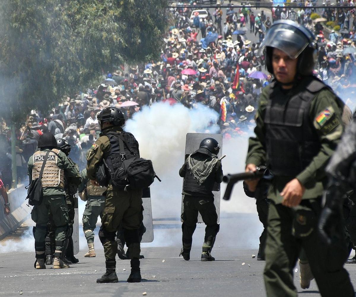 Protestas en Bolivia por los procesos electorales.
