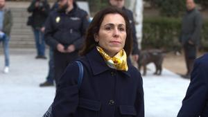 Mireia Pujol, hija del expresidente de la Generalitat Jordi Pujol, a su llegada a la Audiencia Nacional.