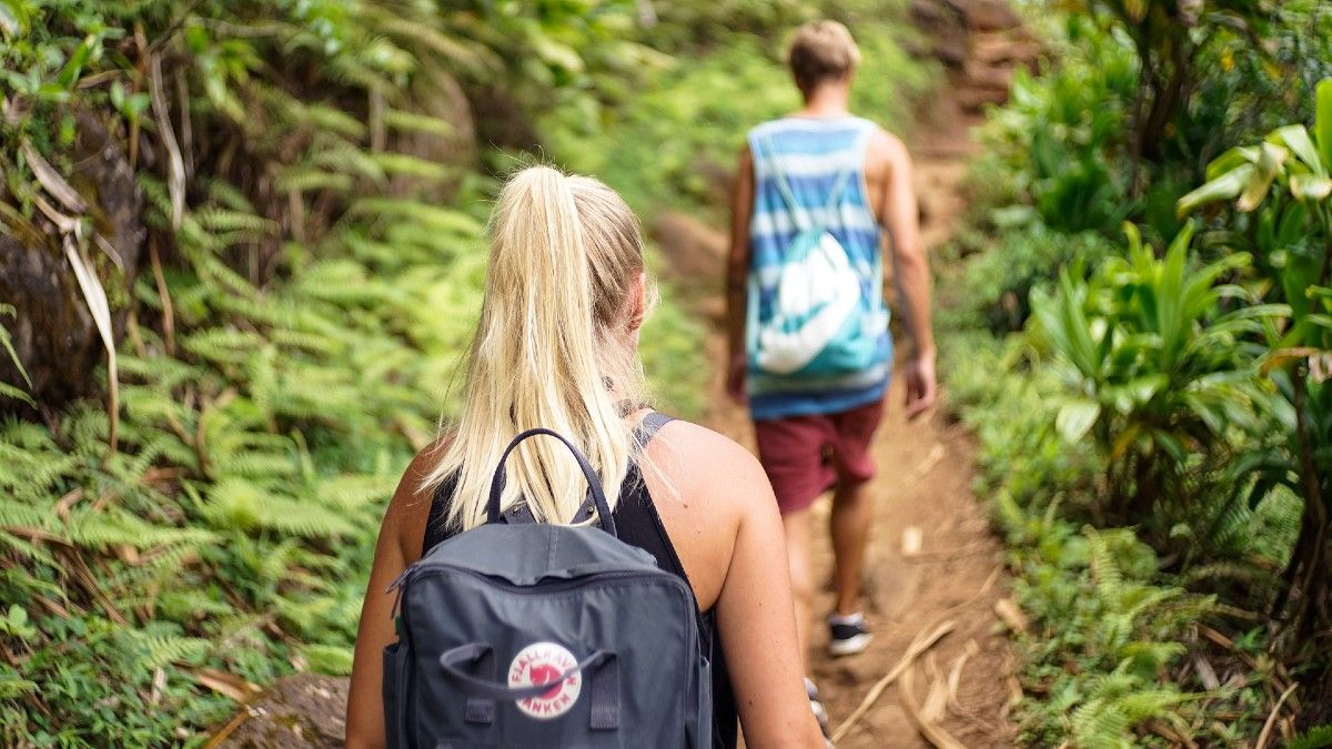 Excursionistas por la montaña.