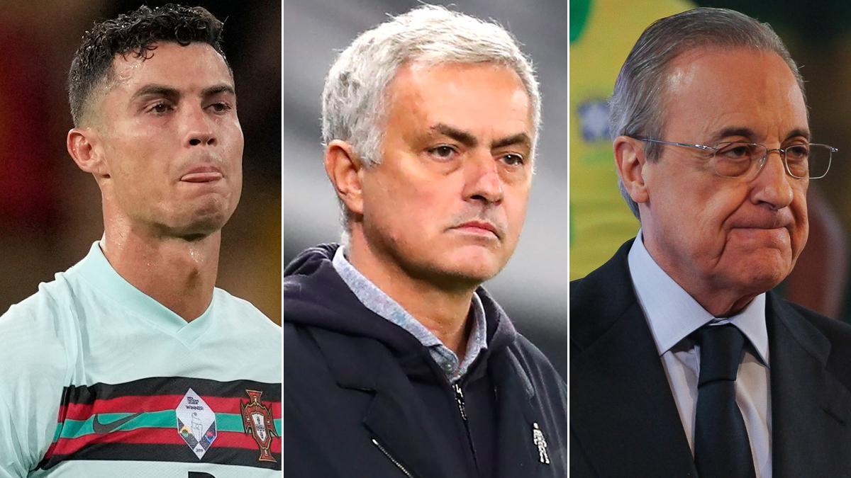 Cristiano Ronaldo, José Mourinho, Florentino Pérez.