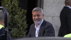 George Clooney grava un anunci a Madrid