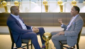 Magic Johnson e Isiah Thomas, cara a cara en el set de NBATV