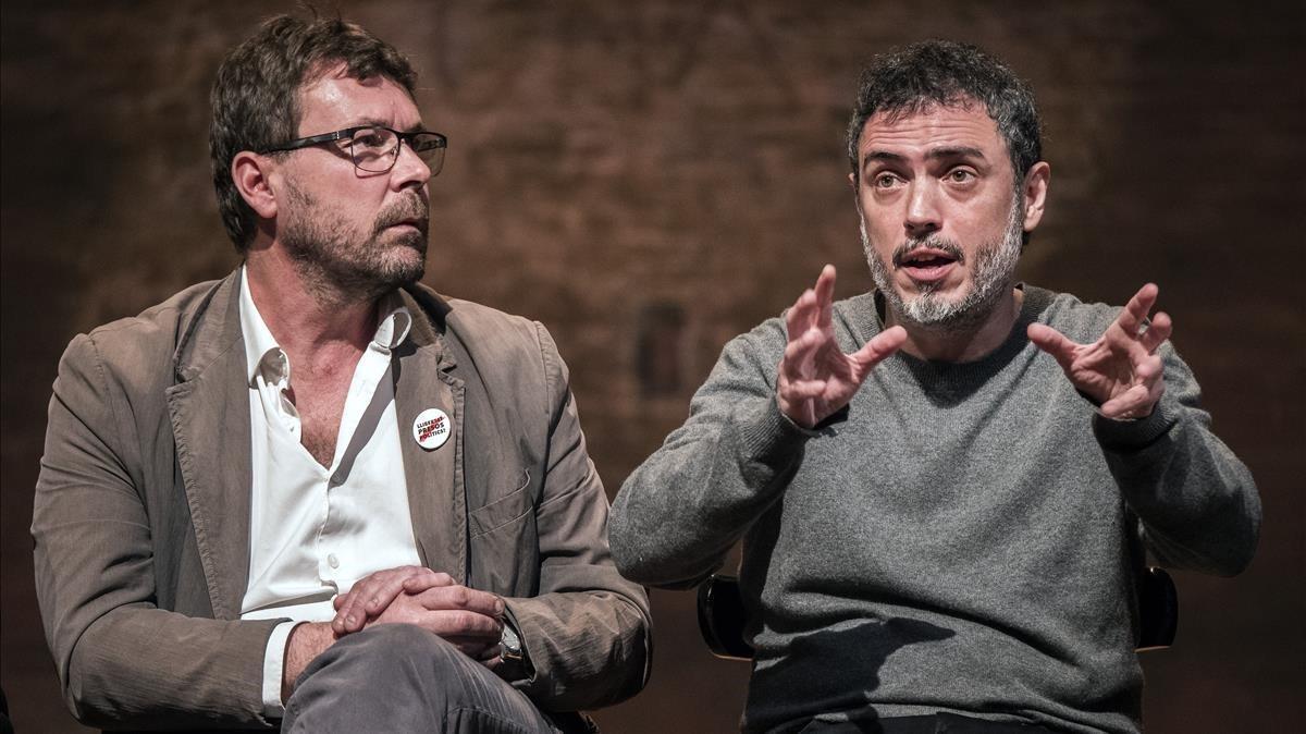 Oriol Broggi (izquierda) y Julio Manrique.