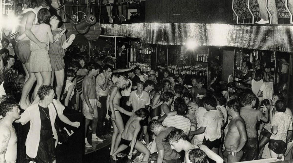 La pista de la discoteca Tiffany's, en Platja d'Aro, en 1983.