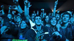 La euforia del público durante el concierto.