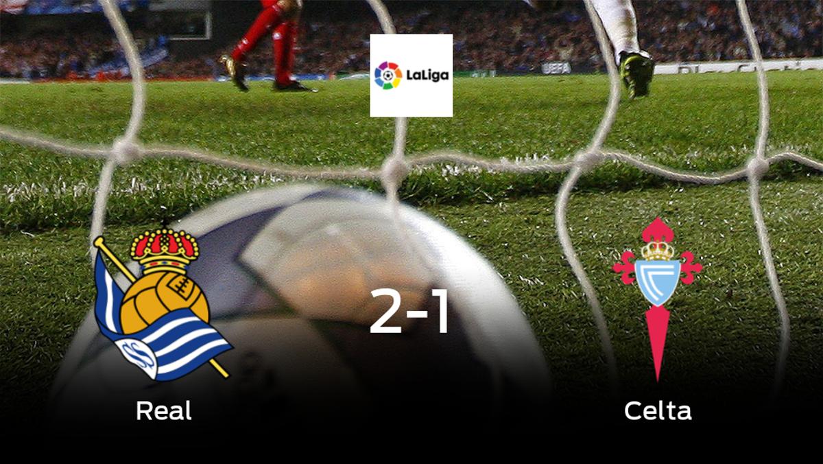 La Real Sociedad consigue los tres puntos frente al Celta (2-1)