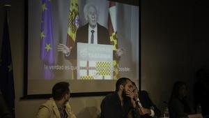 Presentación de Tabarnia este martes en el Col·legi de Periodistes.