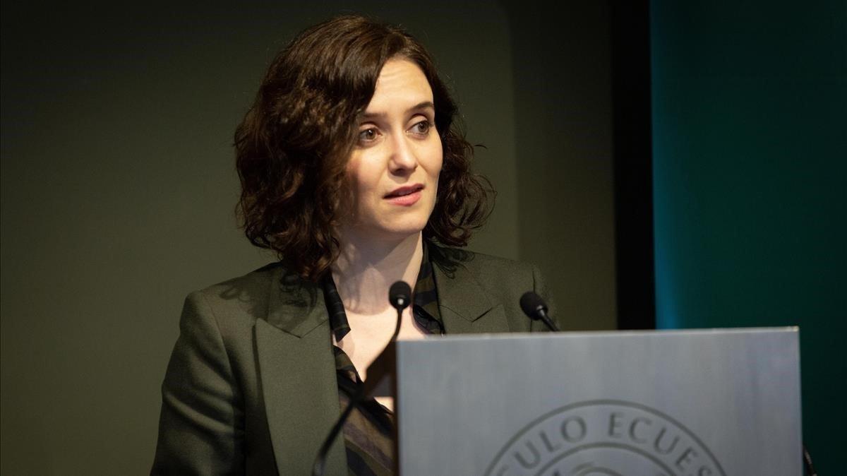 Isabel Díaz Ayuso, en un acto.
