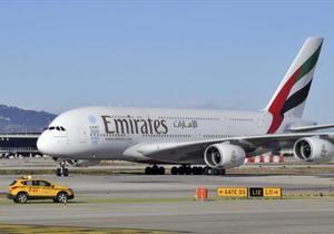 A380 de Emirates en el aeropuerto Barcelona-El Prat.