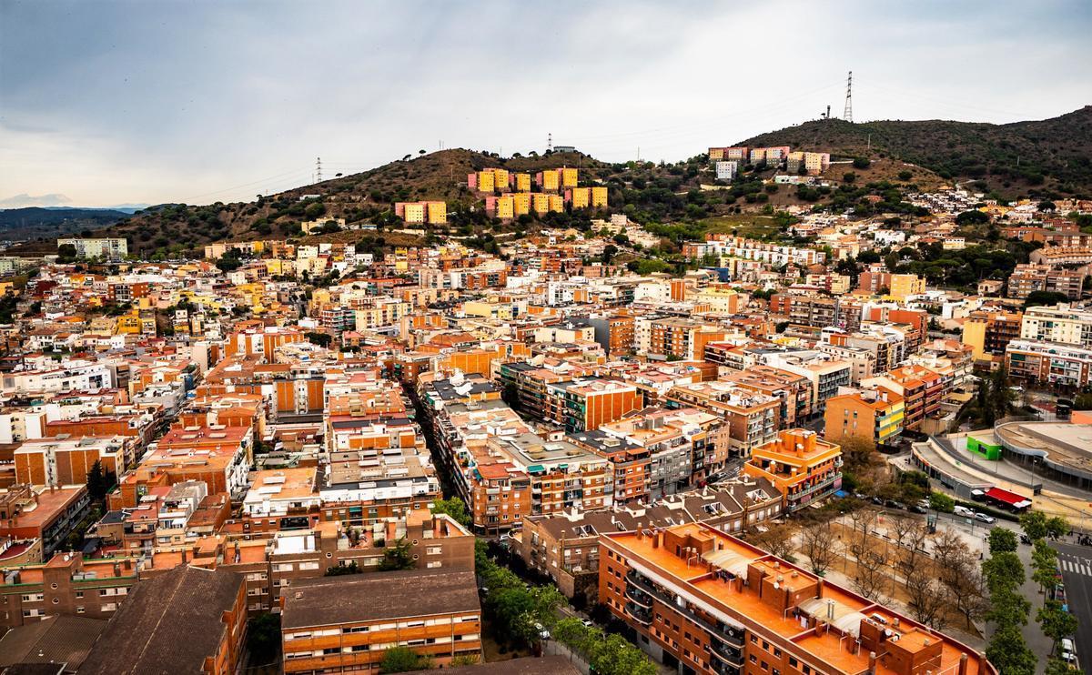 Vista aérea de Santa Coloma de Gramenet.