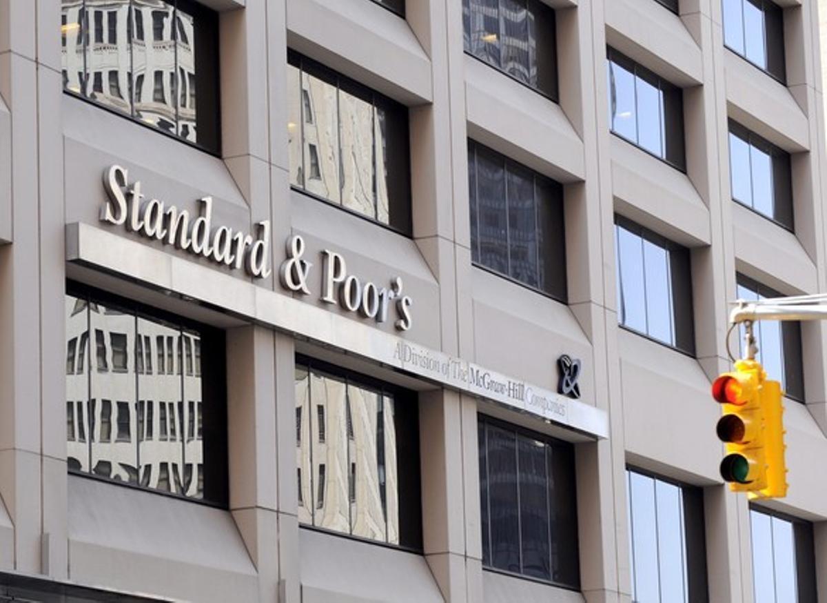Vista de las oficinas de Standard and Poor's (S&P)en Nueva York.