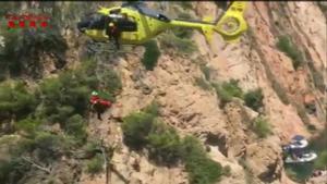 Rescate de un hombre que cayó por un precipicio en Palafrugell.