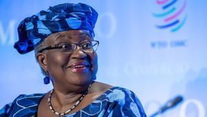 Ngozi Okonjo-Iweala, en la Organización Mundial del Comercio, el pasado julio.