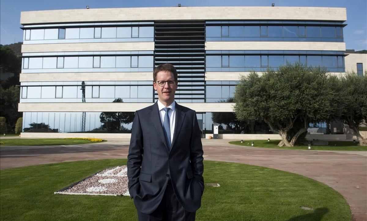 Franz Heukamp, director general del IESE, en el Campus Nord de la escuela de negocios en Barcelona.