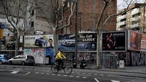 Solar de la Avenida del Paral·lel de Barcelona.