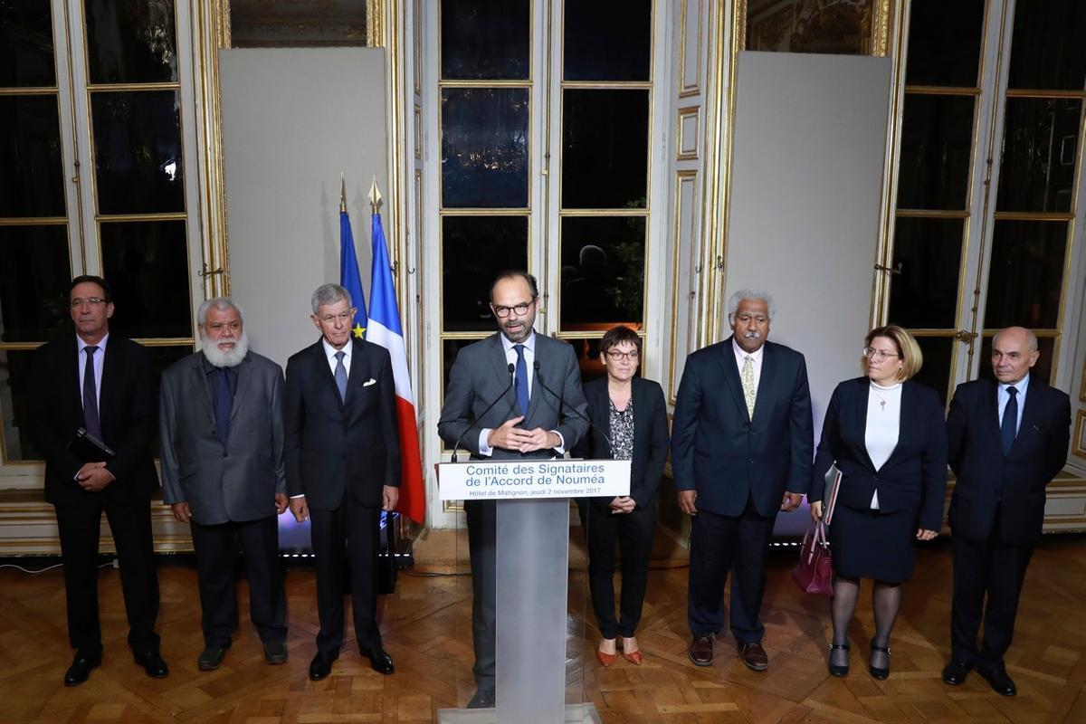 El primer ministro de Francia, Edouard Philippe se ha reunido con los dirigentes de la Nueva Caledonia para detallar las condiciones del referéndum de independencia que se celebrará en 2018