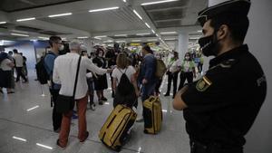 Los turistas alemanes ya han llegado al aeropuerto de Mallorca.