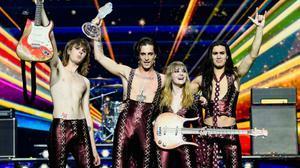El grupo Maneskin, tras su victoria en el festival de Eurovisión