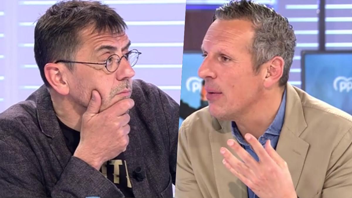 Juan Carlos Monedero y Joaquín Prats en 'Cuatro al día'