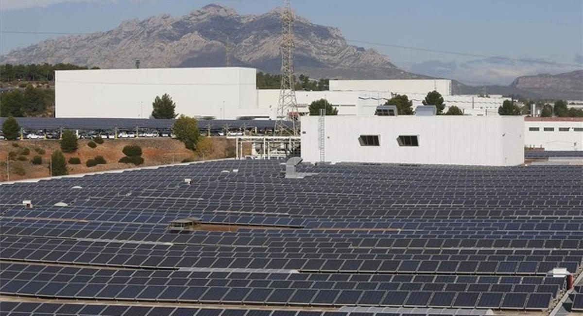 La planta solar de Seat.