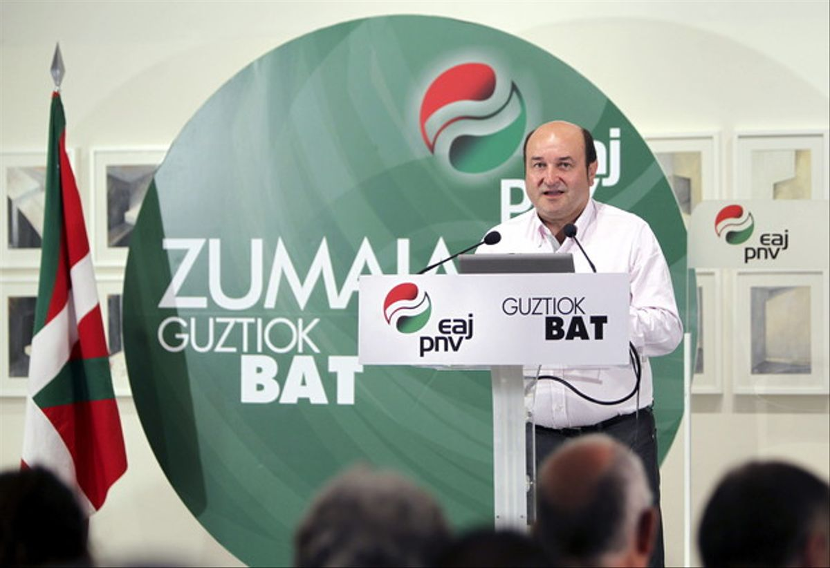 El presidente del PNV, Andoni Ortuzar, en una imagen de archivo.