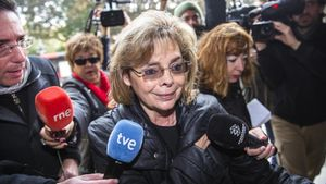 La exconcejala María José Alcón, este miércoles, 1 de febrero, a su llegada a los juzgados.