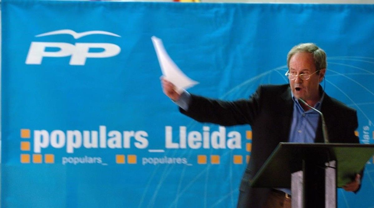 El popular José Ignacio Llorens, que ha resultado elegido diputado por Lleida.