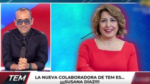 Risto Mejide anunciando de Susana Díaz por 'Todo es mentira'.