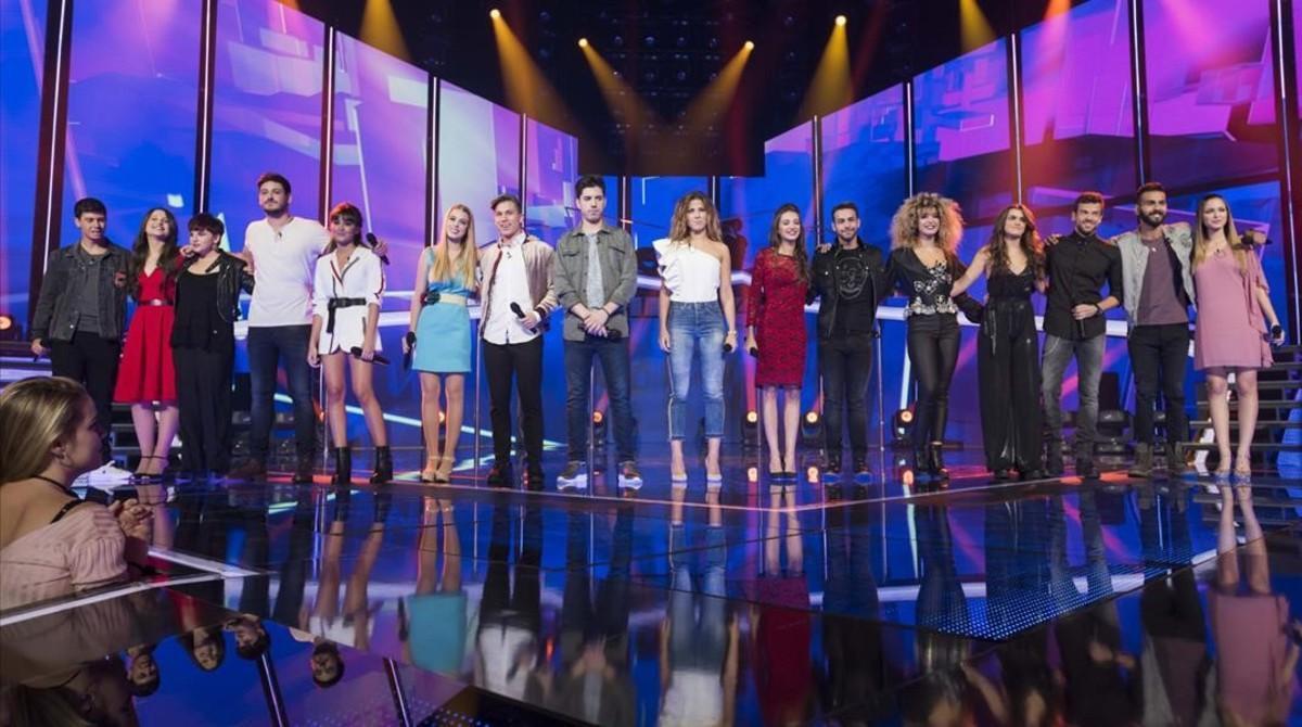 Los concursantes de la edición de 'OT' (TVE-1) del 2017.