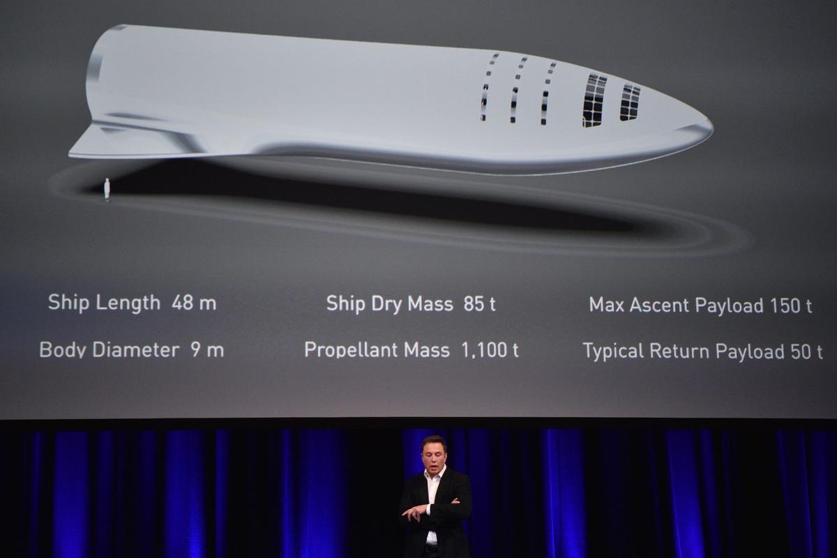 Elon Musk, en una conferencia sobre su proyecto para colonizar Marte.