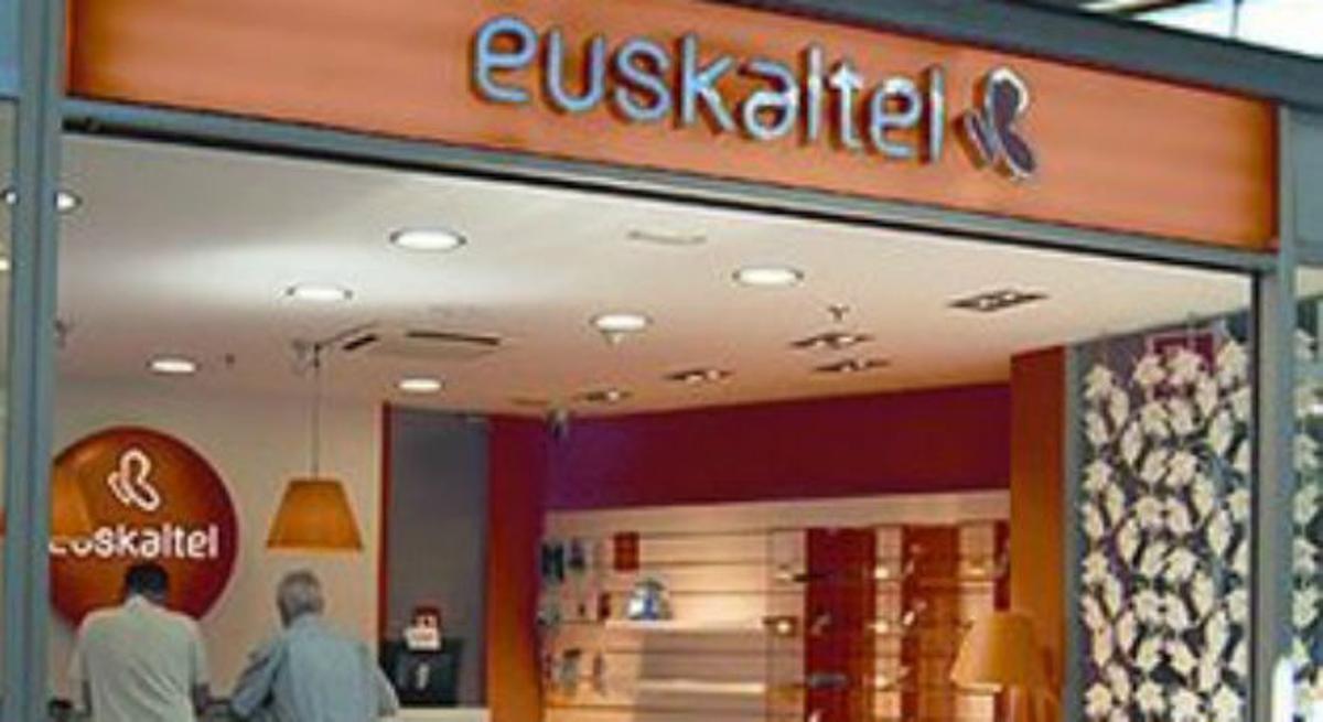 Una oficina de la companyia Euskaltel.
