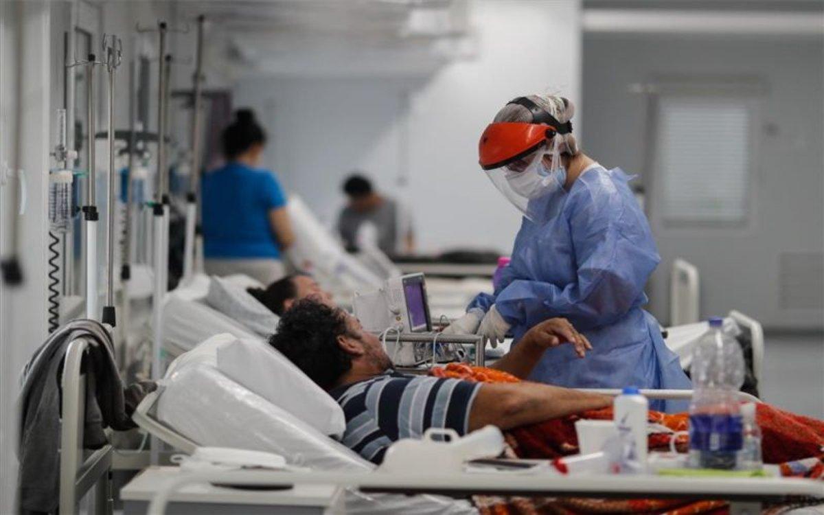 Enfermos de COVID-19 hospitalizados en Argentina.