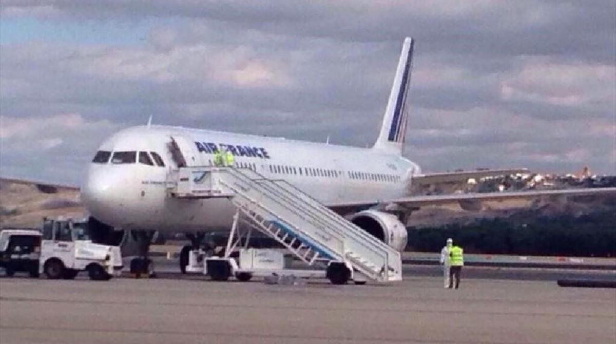 Un aviónde la compañía Air France.