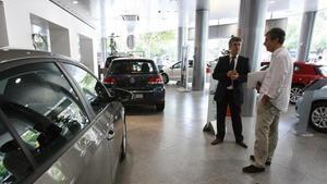Concesionario de Volkswagen en Barcelona.