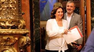 La alcaldesa de Barcelona, Ada Colau, y su socio de gobierno, el socialista Jaume Collboni, el pasado 23 de julio.