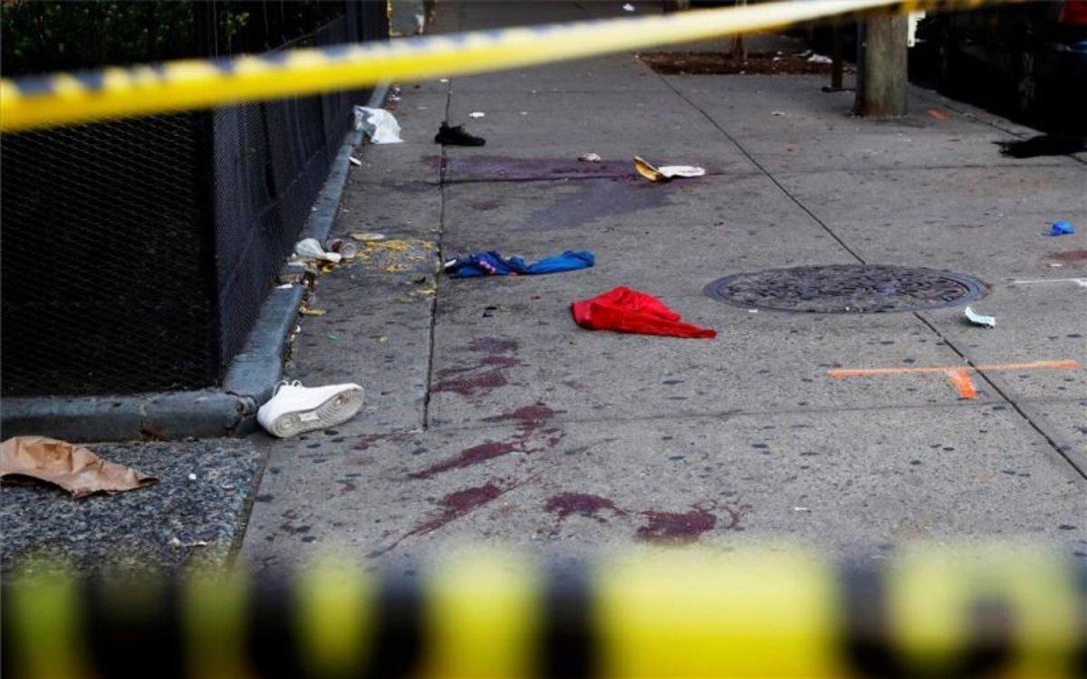 Escena de un tiroteo en Brooklyn, Nueva York.