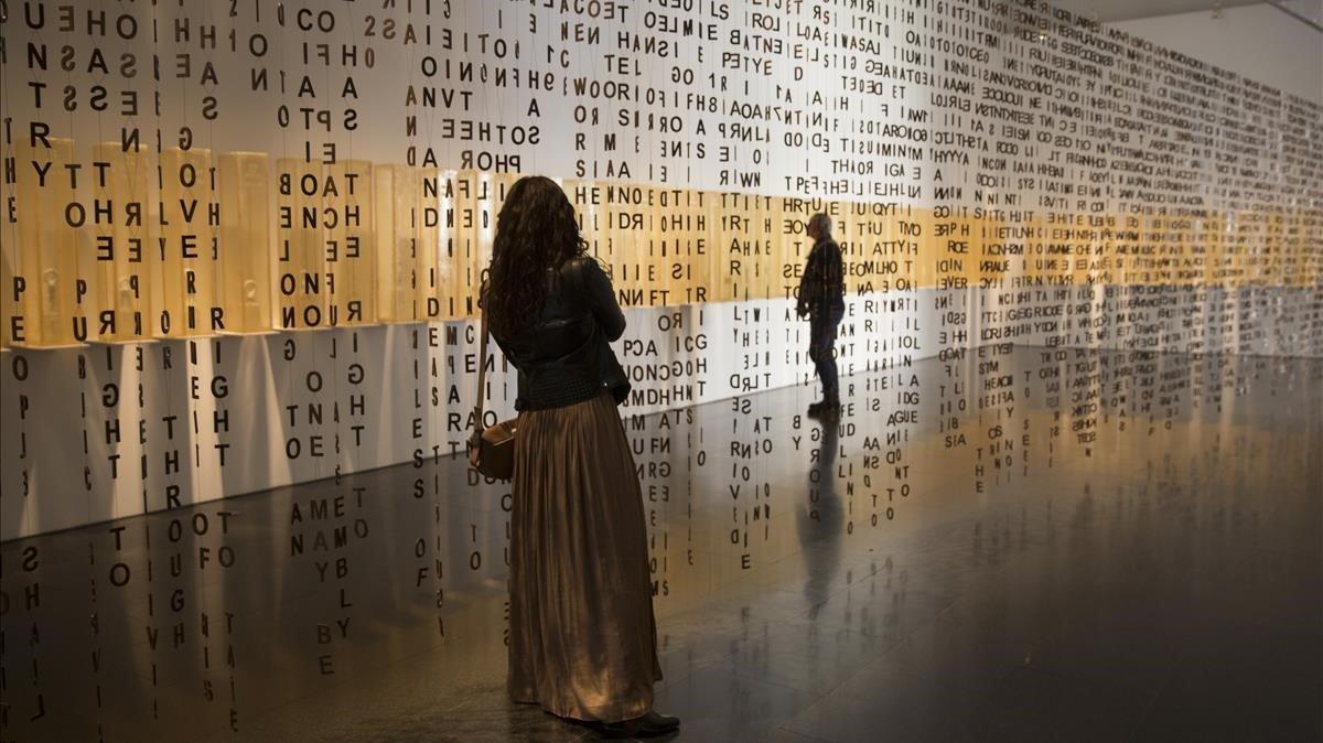 Exposición de Jaume Plensa en el Macba, en el 2019.