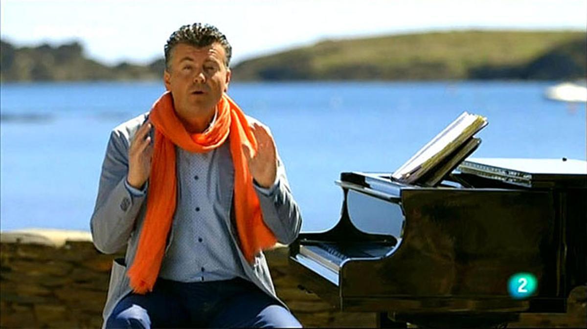 Ramon Gener interpretando a Wagner en Cadaqués (La 2).