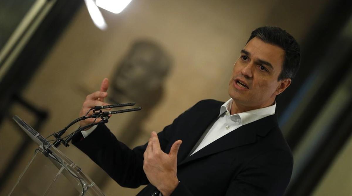 Pedro Sánchez, el pasado jueves en el Congreso.