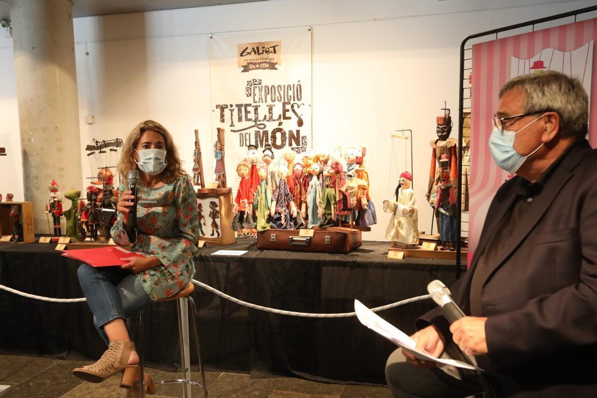 La Alcaldesa de Gavà en la presentación del Festival Internacional de Titelles del municipio