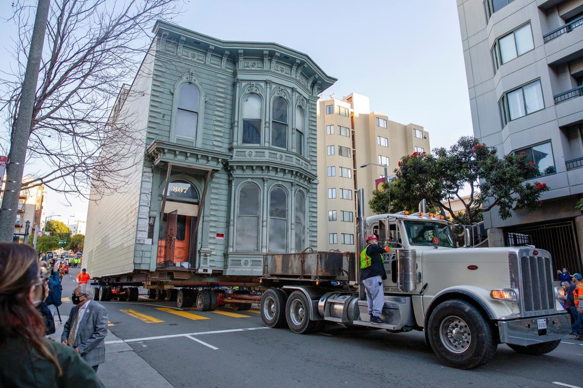 Esta casa victoriana, conocida como 'The Englander House' fue trasladada siete manzanas en San Francisco