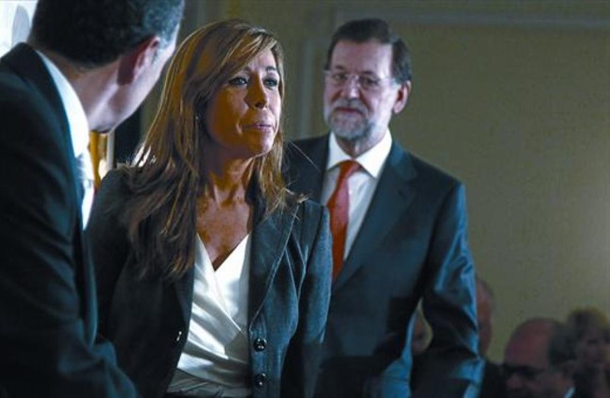 Sánchez-Camacho, junto a Rajoy, en una visita reciente a Madrid.
