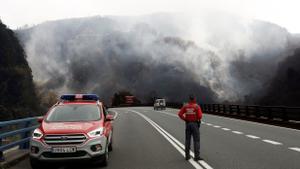 Un incendio en Navarra obliga a intervenir al Ejército