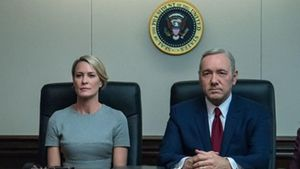 Robin Wright y Kevin Spacey, en 'House of cards', serie de la plataforma Netflix.