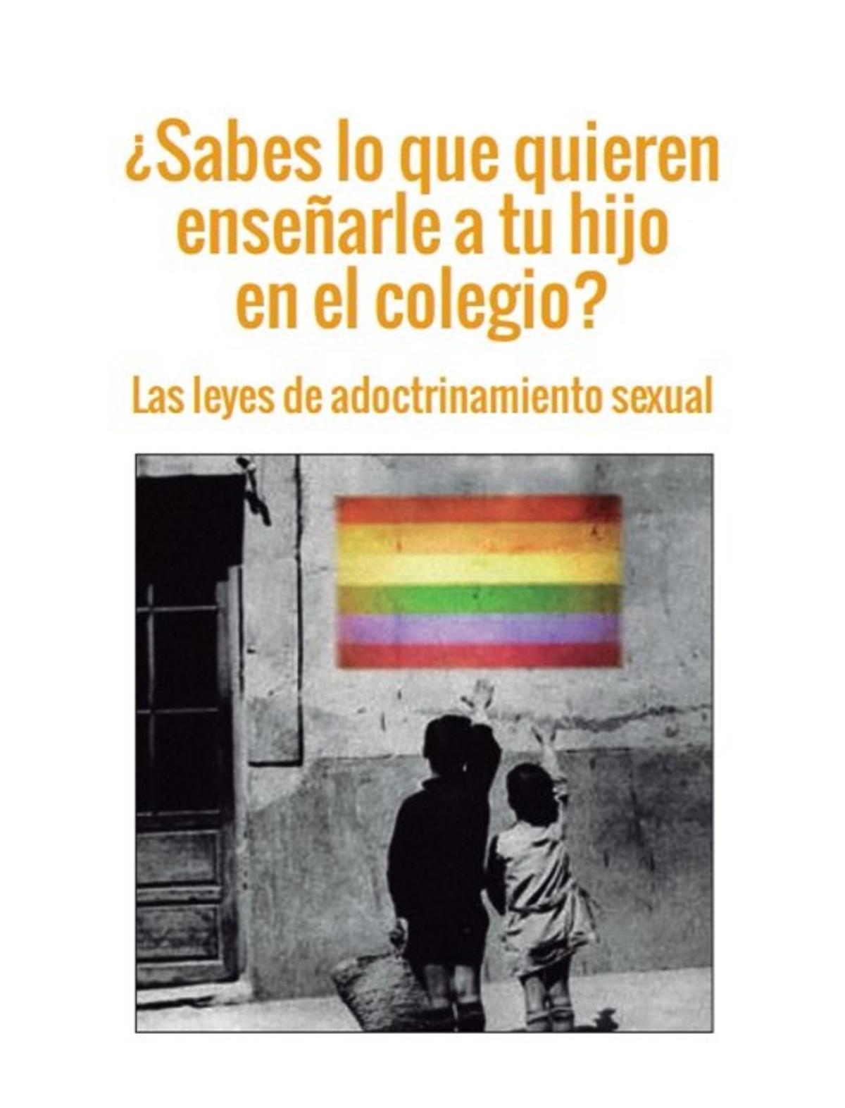 La portada del folleto que reparte Hazte Oír.
